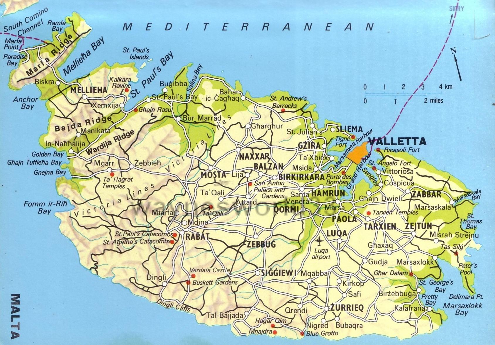 Map of the island of Malta Malta Island Map on san marino, malta people, malta region map, malta points of interest, malta street map, malta weather, malta russia map, emma heming, malta beaches, malta portugal map, cape verde islands map, malta capital map, italy map, maltese map, st.julians malta map, paul in malta map, malta bus route map, malta popeye s, malta climate map, malaysia map, sliema malta map,